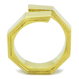 TK1629 IP Gold(Ion Plating) Stainless Steel Ring with No Stone in No Stone