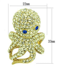 Load image into Gallery viewer, TK1640 IP Gold(Ion Plating) Stainless Steel Ring with Top Grade Crystal in Multi Color