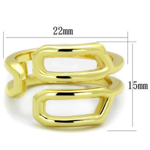 TK1884 IP Gold(Ion Plating) Stainless Steel Ring with No Stone in No Stone