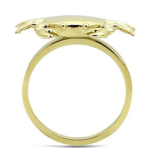 TK3199 IP Gold(Ion Plating) Stainless Steel Ring with No Stone in No Stone