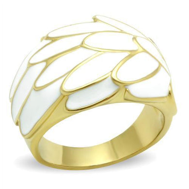 GL005 IP Gold(Ion Plating) Brass Ring with No Stone in No Stone