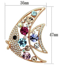 Load image into Gallery viewer, LO2923 Flash Rose Gold White Metal Brooches with Top Grade Crystal in Multi Color