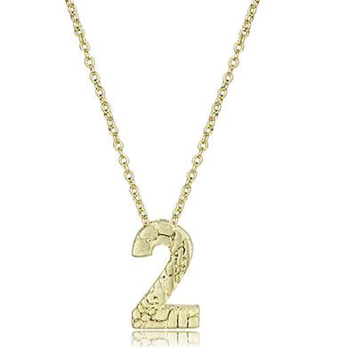 LO3461 - Flash Gold Brass Chain Pendant with Top Grade Crystal  in Clear