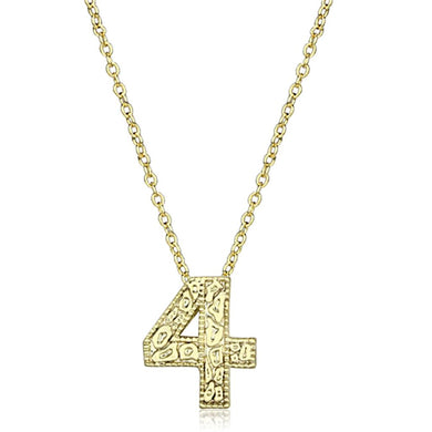 LO3462 - Flash Gold Brass Chain Pendant with Top Grade Crystal  in Clear