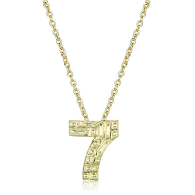 LO3464 - Flash Gold Brass Chain Pendant with Top Grade Crystal  in Clear