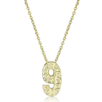 LO3465 - Flash Gold Brass Chain Pendant with Top Grade Crystal  in Clear