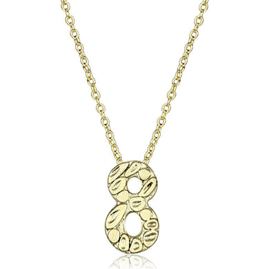 LO3466 - Flash Gold Brass Chain Pendant with Top Grade Crystal  in Clear