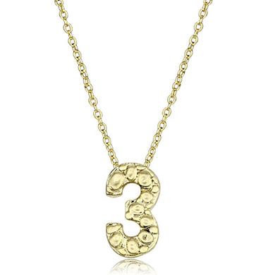 LO3467 - Flash Gold Brass Chain Pendant with Top Grade Crystal  in Clear