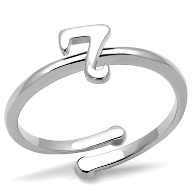 LO4003 - Rhodium Brass Ring with No Stone