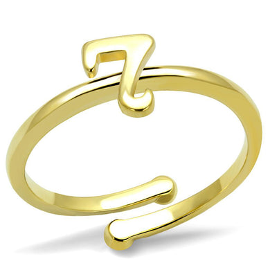 LO4004 - Flash Gold Brass Ring with No Stone