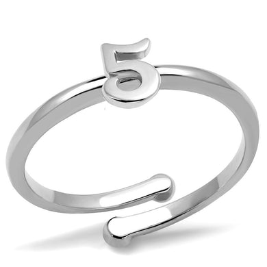 LO4015 - Rhodium Brass Ring with No Stone