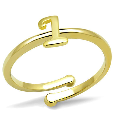 LO4020 - Flash Gold Brass Ring with No Stone