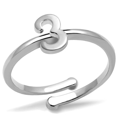 LO4021 - Rhodium Brass Ring with No Stone