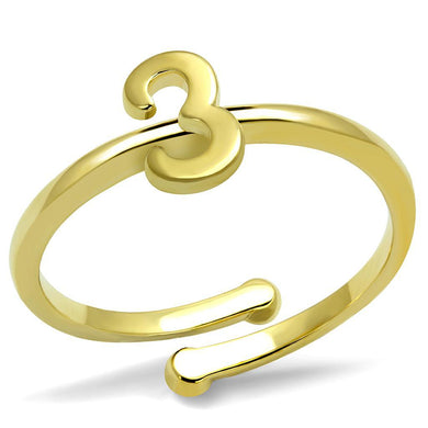 LO4022 - Flash Gold Brass Ring with No Stone