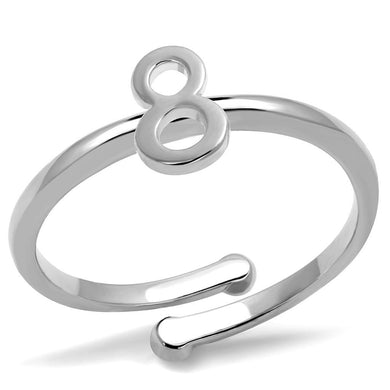 LO4029 - Rhodium Brass Ring with No Stone