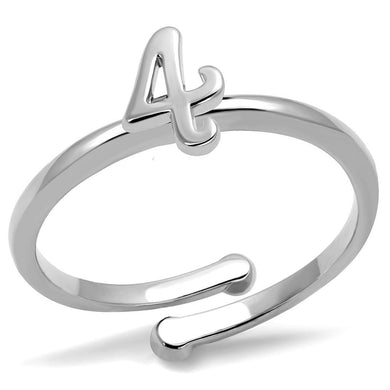 LO4031 - Rhodium Brass Ring with No Stone