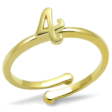 LO4032 - Flash Gold Brass Ring with No Stone