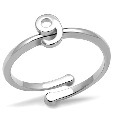 LO4037 - Rhodium Brass Ring with No Stone