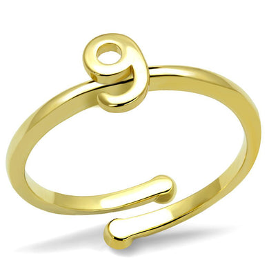 LO4038 - Flash Gold Brass Ring with No Stone