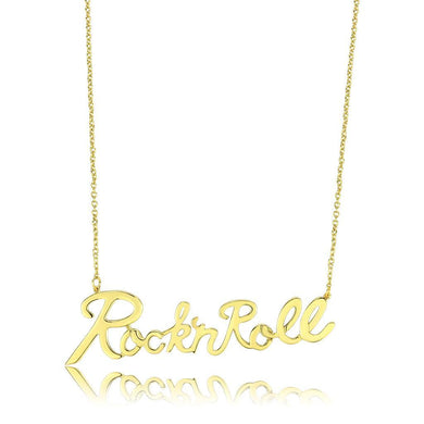LO4689 Flash Gold Brass Necklace with No Stone in No Stone