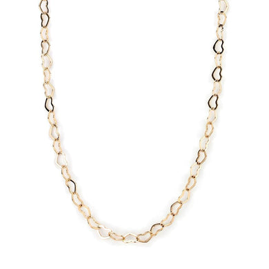 LO4695 Flash Rose Gold Brass Necklace with No Stone in No Stone