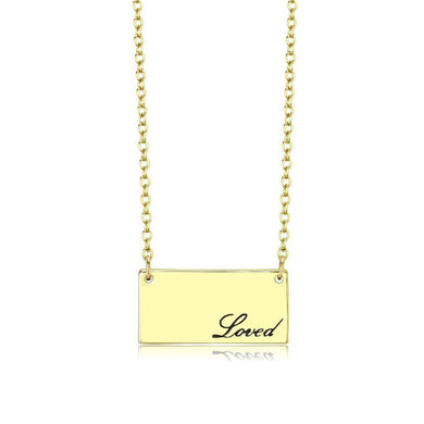 LO4699 Flash Gold Brass Necklace with Top Grade Crystal in Clear