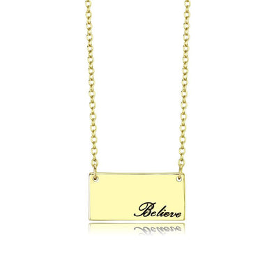 LO4700 Flash Gold Brass Necklace with Top Grade Crystal in Clear