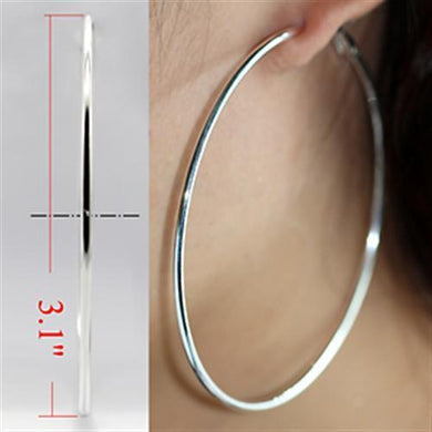 LO770 - Silver Brass Earrings with No Stone
