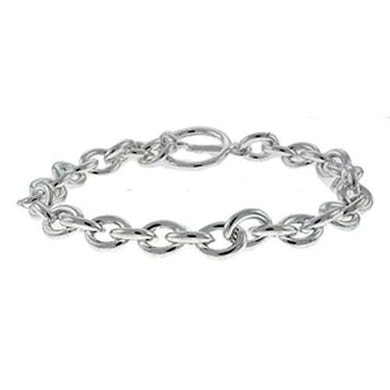 LOA537 Silver Brass Bracelet with No Stone in No Stone