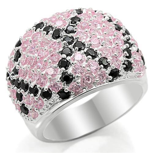LOS357 Silver 925 Sterling Silver Ring with AAA Grade CZ in Multi Color