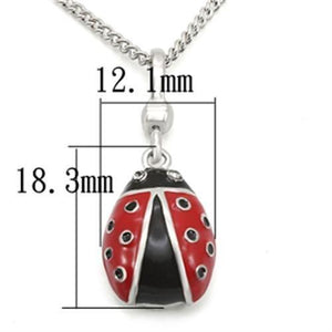 LOS438 Silver 925 Sterling Silver Chain Pendant with Top Grade Crystal in Black Diamond