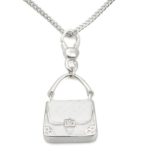 LOS439 Silver 925 Sterling Silver Chain Pendant with No Stone in No Stone