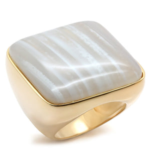 LOS492 Gold 925 Sterling Silver Ring with Semi-Precious in Multi Color