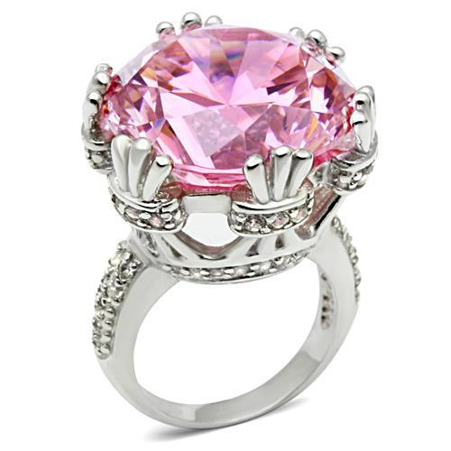 LOS530 Silver 925 Sterling Silver Ring with AAA Grade CZ in Rose