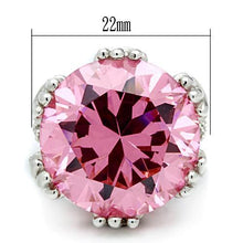 Load image into Gallery viewer, LOS530 Silver 925 Sterling Silver Ring with AAA Grade CZ in Rose