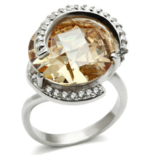 Load image into Gallery viewer, LOS540 Silver 925 Sterling Silver Ring with AAA Grade CZ in Champagne