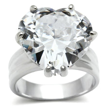 Load image into Gallery viewer, LOS543 Silver 925 Sterling Silver Ring with AAA Grade CZ in Clear