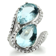 Load image into Gallery viewer, LOS548 Silver 925 Sterling Silver Ring with Synthetic in Sea Blue