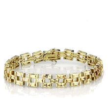 Load image into Gallery viewer, LOS601 Gold 925 Sterling Silver Bracelet with AAA Grade CZ in Champagne