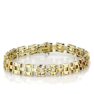LOS601 Gold 925 Sterling Silver Bracelet with AAA Grade CZ in Champagne