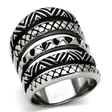 TK1008 - High polished (no plating) Stainless Steel Ring with No Stone