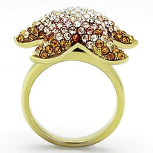 Load image into Gallery viewer, TK1034 IP Gold(Ion Plating) Stainless Steel Ring with Top Grade Crystal in Multi Color