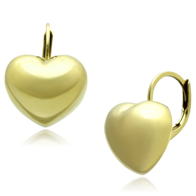 TK1128 - IP Gold(Ion Plating) Stainless Steel Earrings with No Stone