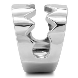 TK143 High polished (no plating) Stainless Steel Ring with No Stone in No Stone