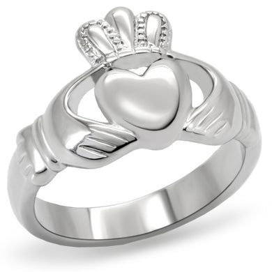 TK160 - High polished (no plating) Stainless Steel Ring with No Stone