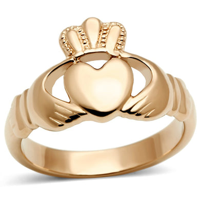 TK160R IP Rose Gold(Ion Plating) Stainless Steel Ring with No Stone in No Stone