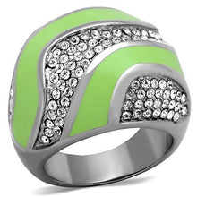 Load image into Gallery viewer, TK1741 High polished (no plating) Stainless Steel Ring with Top Grade Crystal in Clear
