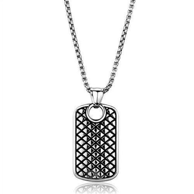 TK1983 High polished (no plating) Stainless Steel Necklace with No Stone in No Stone