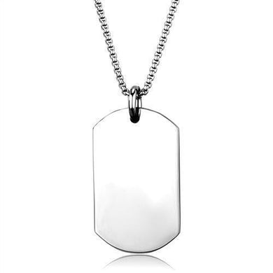 TK1995 - High polished (no plating) Stainless Steel Necklace with No Stone