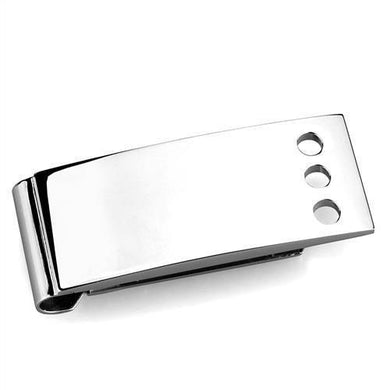 TK2072 - High polished (no plating) Stainless Steel Money clip with No Stone